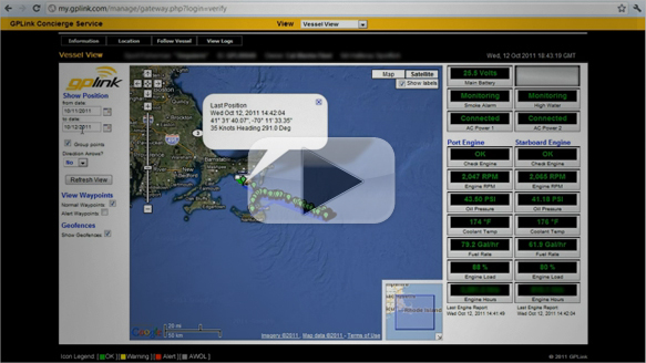 Viewing & Following your Vessel - gplink demo 2 of 4