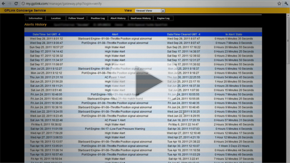 Logs & History - gplink demo 4 of 4